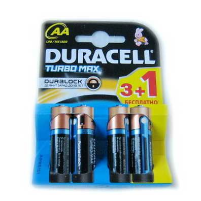 LR06 Duracell TURBO 3+1