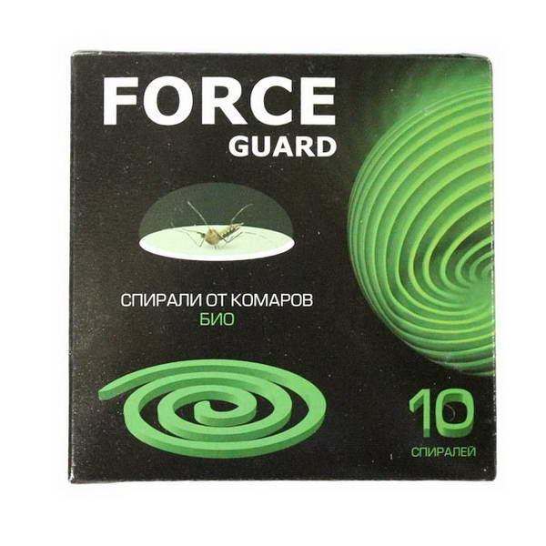 Спирали Force guard био (зеленые) 10шт.